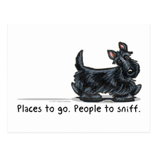 Scottie People To Sniff Postcard