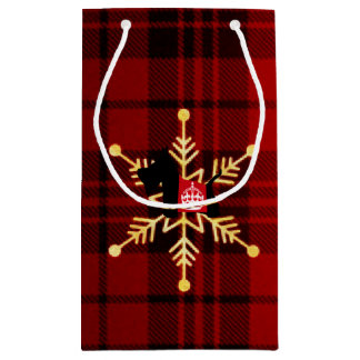 Scottie Royal Crown Holiday Small Gift Bag