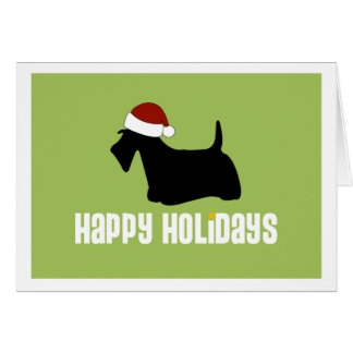 Scottie Santa Hat Card