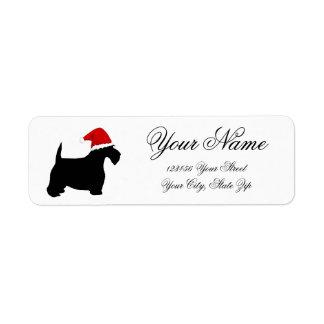 Scottie Santa Return Address Label