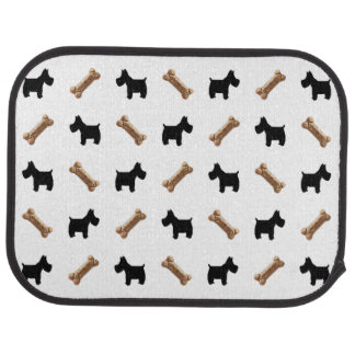 Scottie Scotties and dog biscuits Car Mat