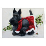 Scottie Scottish Terrier Dog Merry Christmas Greeting Card