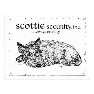Scottie Sketch - Security? Postcard
