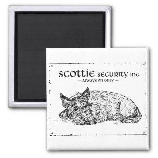 Scottie Sketch - Security? Square Magnet