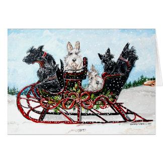 Scottie Sleigh Ride Cards