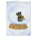 Scottie Snow globe Christmas Greeting Card