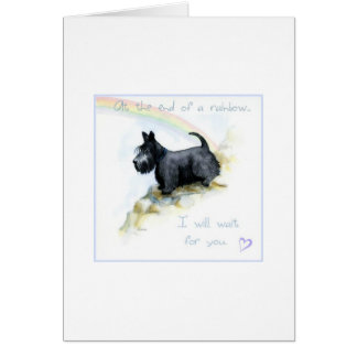 Scottie sympathy card