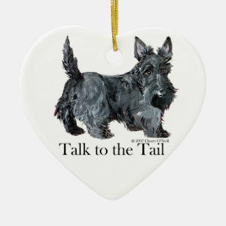 Scottie Talk to the Tail Christmas Ornament