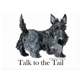 Scottie Talk to the Tail Post Card