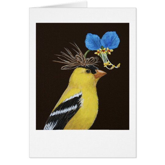 Scottie the goldfinch greeting card