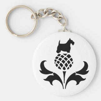 Scottie Thistle Key Ring