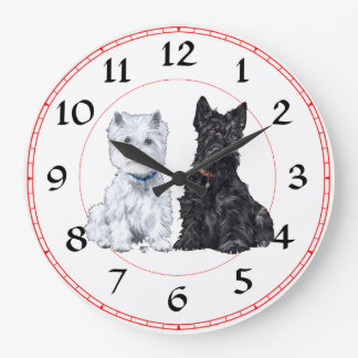 Scottie & Westie Clock