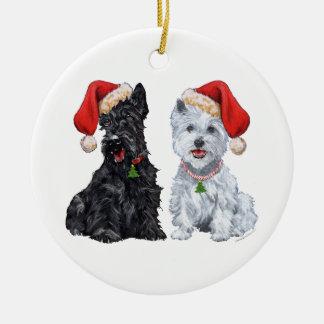 Scottie & Westie Ornament