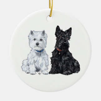 Scottie & Westie Ornament