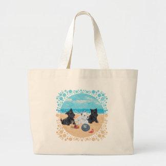 Scottie & Westie Pups at the Beach Bag