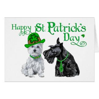 Scottie & Westie St. Paddy's Day Greeting Cards