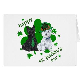 Scottie & Westie St. Paddy's Day Greeting Card