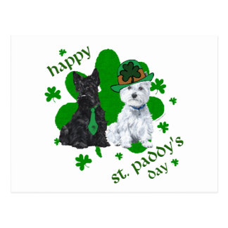 Scottie & Westie St. Paddy's Day Postcard