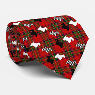 Scotties and Stewart Plaid Tie