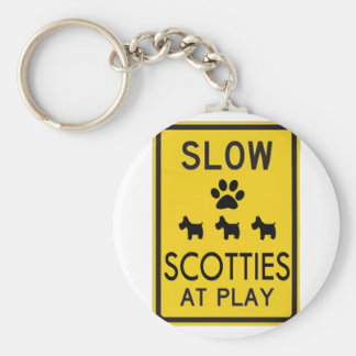 Scotties at Play Keychains