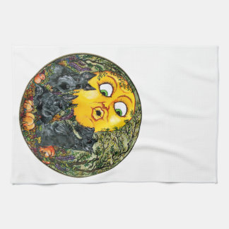 Scotties in Moonlight Tea Towel