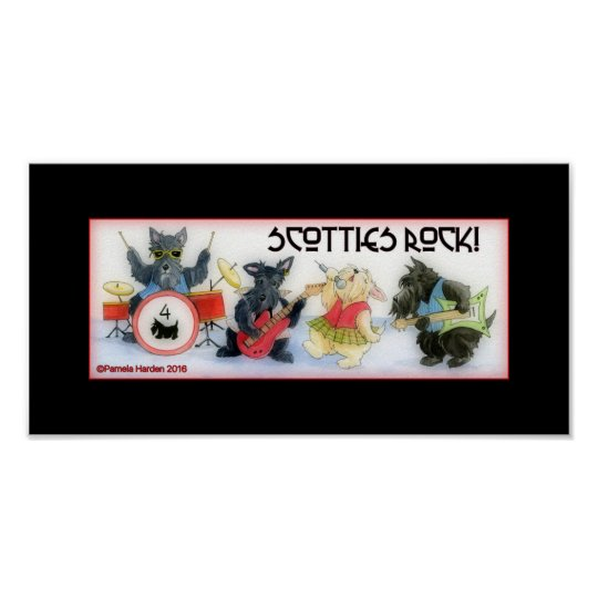 Scotties Rock Poster