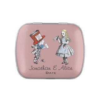 Scottish Alice in Wonderland Wedding Favor Tin Jelly Belly Tins