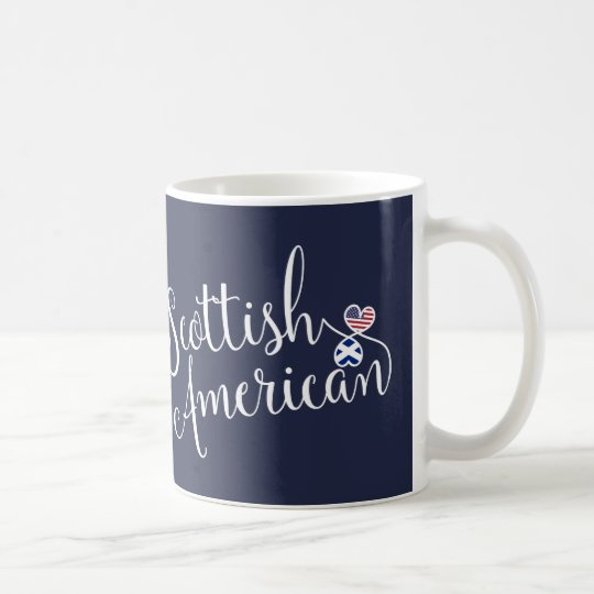 Scottish American Entwined Hearts Mug