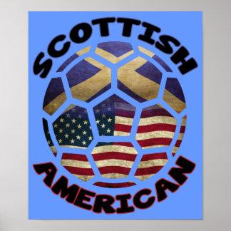 Scottish American Soccer Ball Poster
