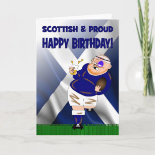 Beer birthday birthday cards zazzle uk scottish and proud beer rugby birthday card m4hsunfo