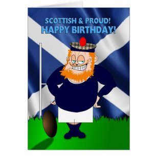 Scottish birthday cards invitations zazzle scottish and proud rugby birthday card m4hsunfo