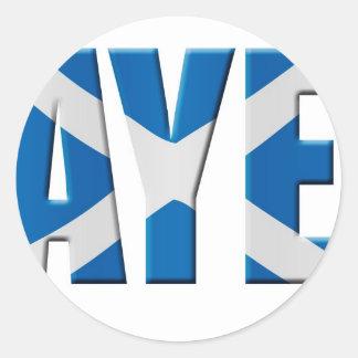 Scottish Aye Classic Round Sticker