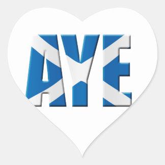 Scottish Aye Heart Sticker