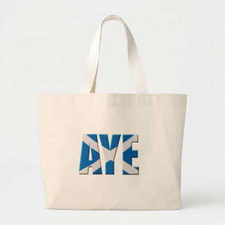 Scottish Aye Large Tote Bag
