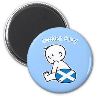 Scottish Baby 6 Cm Round Magnet