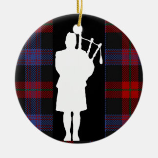 Scottish Bagpiper Christmas Ornament