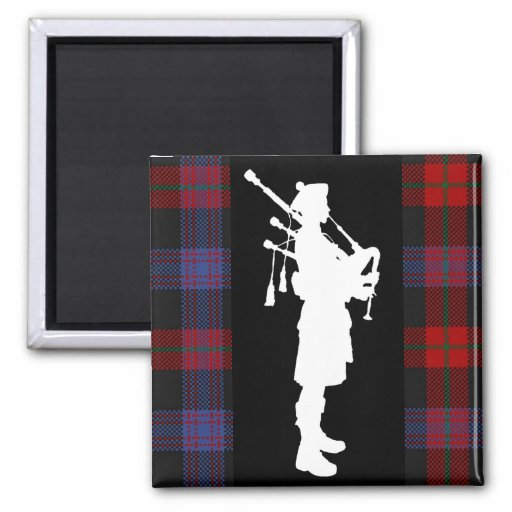 Scottish Bagpiper Magnets