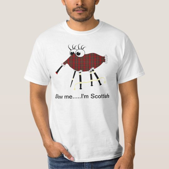 Scottish Bagpipes Humourous Vector T-Shirt