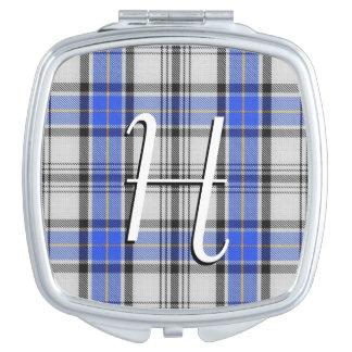 Scottish Beauty Clan Hannay Tartan Plaid Travel Mirror