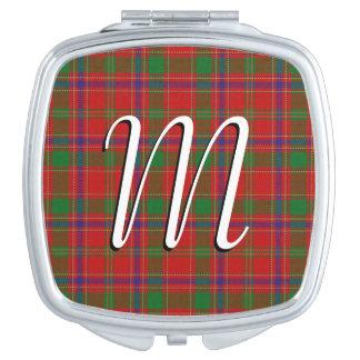 Scottish Beauty Clan Munro Tartan Plaid Makeup Mirror