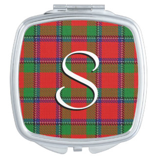Scottish Beauty Clan Sinclair Tartan Plaid Mirror For Makeup