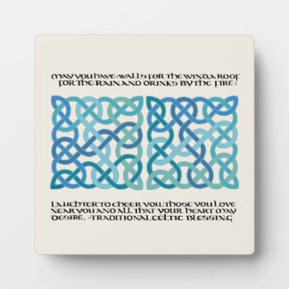 Scottish Blessing Calligraphy with Celtic Knots Plaque