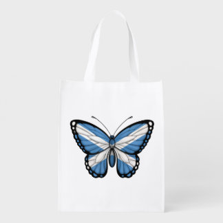 Scottish Butterfly Flag Reusable Grocery Bags