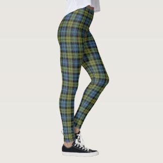 Scottish Campbell Blue and Green Tartan Plaid Leggings