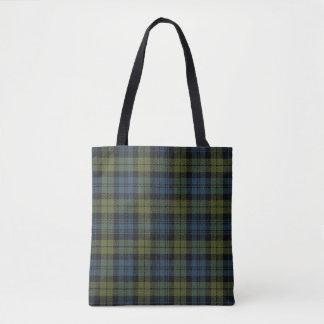 Scottish Campbell Tartan Plaid Tote Bag