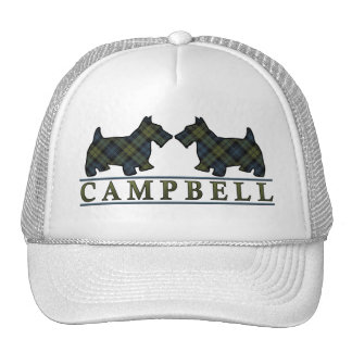 Scottish Campbell Tartan Scottie Dogs Cap
