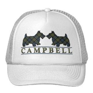 Scottish Campbell Tartan Scottie Dogs Cap