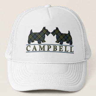 Scottish Campbell Tartan Scottie Dogs Trucker Hat