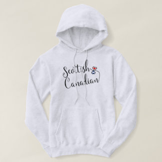 Scottish Canadian Entwinted Hearts Hoodie