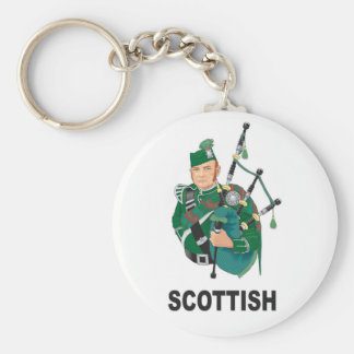scottish chap basic round button key ring
